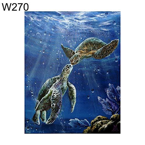 - Diamond Paintings, Art Picture for Home Wall Decor, yanQxIzbiu 30x40cm Underwater Sea Turtle Cross Stitch Craft DIY Full Round Diamond Painting - W270