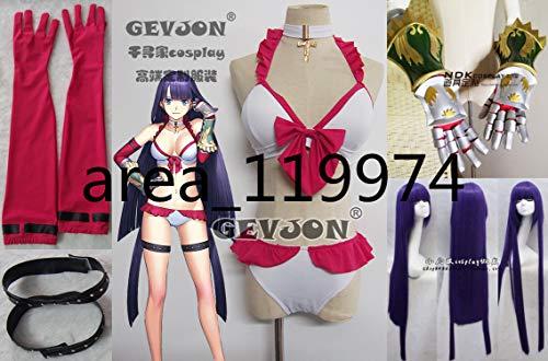 Fate/Grand Order フェイト・グランドオーダー FGO マルタ 水着 コスプレ衣装+手袋+チョーカー+太ももの輪+wig 手甲追加可
