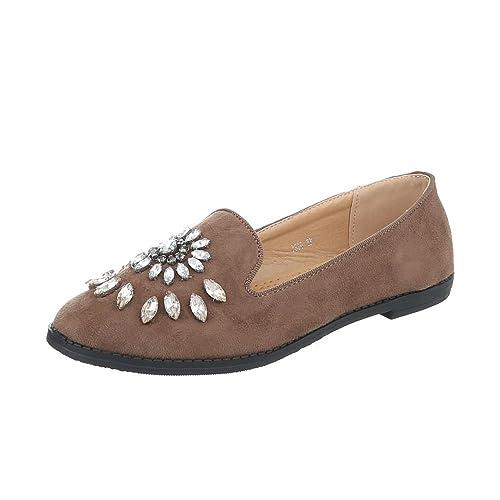Zapatos para mujer Mocasines Tacón ancho Slip-on Marrón Tamaño 41: Amazon.es: Zapatos y complementos