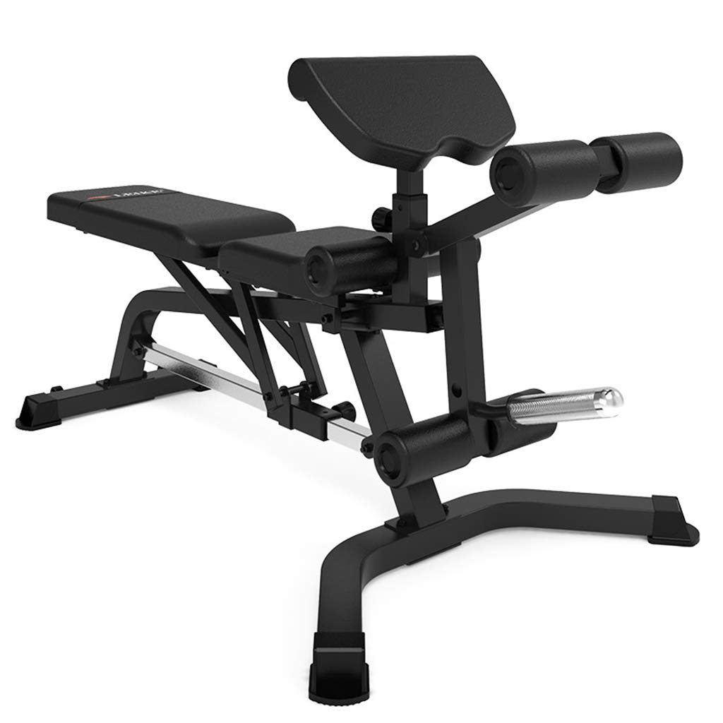 Standard Weight Benches Dumbbell Bench Supine Board Abdomen Folding Chair Home Multi-Function Training Fitness Equipment Fitness Chair (Color : Black, Size : 1709578cm)