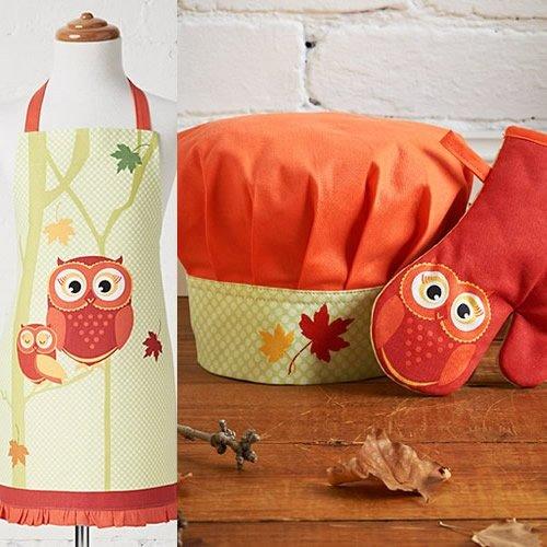Chef Owl (Ladelle International Harvest Kids Chef Set,)
