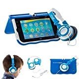 Ultimateaddons® Blue Kids Folding Small DJ Style Headphones compatible with vTech Innotab Max