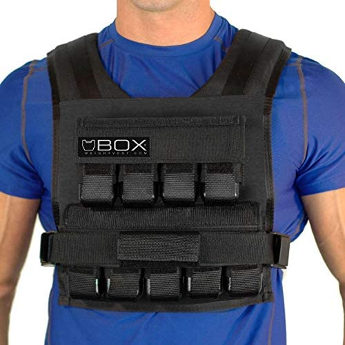 Box 45 Lb Weighted Vest for Crossfit and Gym Bodyweight Training – Made in USA