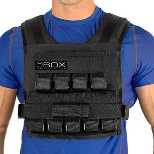 IRun Sport Adjustable Weighted Vest for Men, Multiple Weights Option Available 20LBS – 60LBS , Training Vests