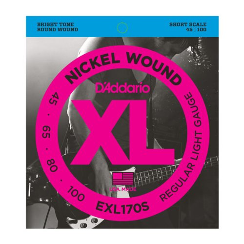 D'Addario EXL170 Nickel Wound Bass Guitar Strings, Light, 45-100, Long Scale from D'Addario