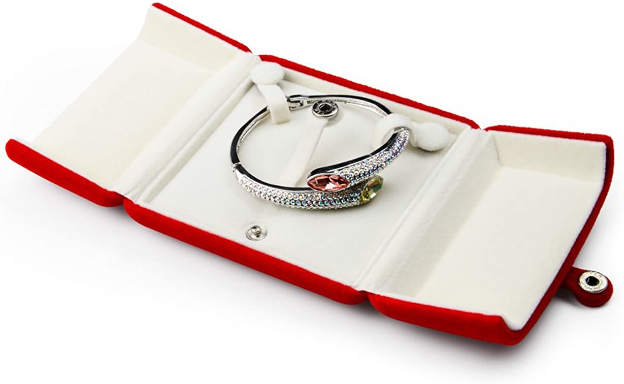 Oirlv Red Velvet Caja de Embalaje de joyería Doble Abierta Anillo Pendiente Colgante Collar Pulsera Almacenamiento Caja de Regalo Caja de Regalo de joyería (Caja de Pulsera/Caja de Brazalete): Amazon.es: Hogar