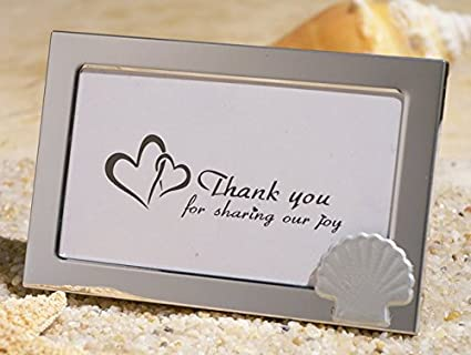 Beach Theme Metal Picture Frame Favors