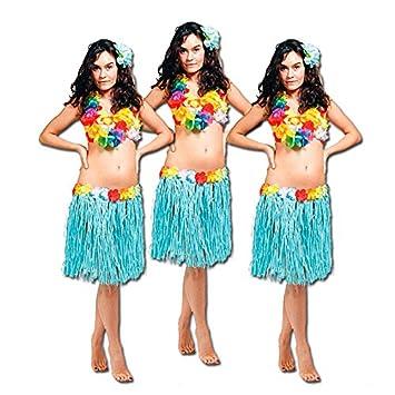 3er Set Bastrock Hawaii - türkis Hawaiirock Junggesellenabschied ...