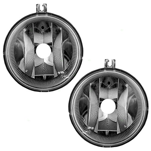 Pair Set of Fog Lights Lamps Lenses Replacement for Chrysler Dodge Jeep SUV Van 5182025AA (Dodge Caliber Suv)