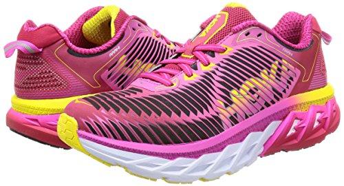 Hoka One One W Arahi Calzado, Mujer, Virtual Pink / Neon Fuchsia, 37.33 virtual pink / neon fuchsia