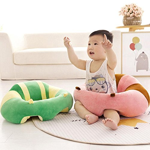 Colorful Baby Support Seat Learn sit Soft Chair Cushion Sofa Lonely Safety Seat (Pink & Blue)