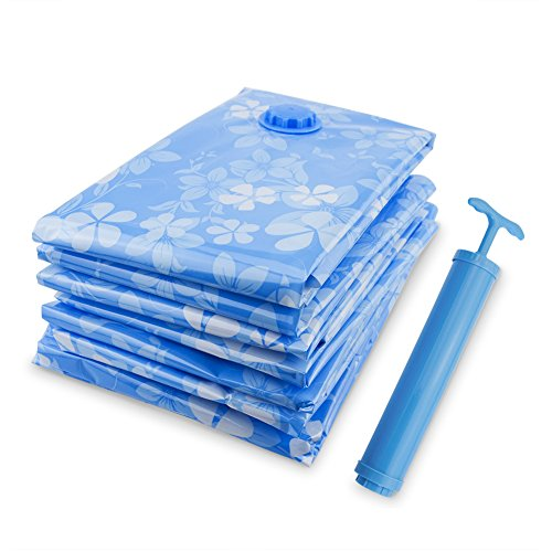 Little World Vacuum Storage Bags Reusable Space Saver Bag Save 80% More Storage Space Seal Bags with Free Hand-Pump for Travel Bedding Garments11 Pack