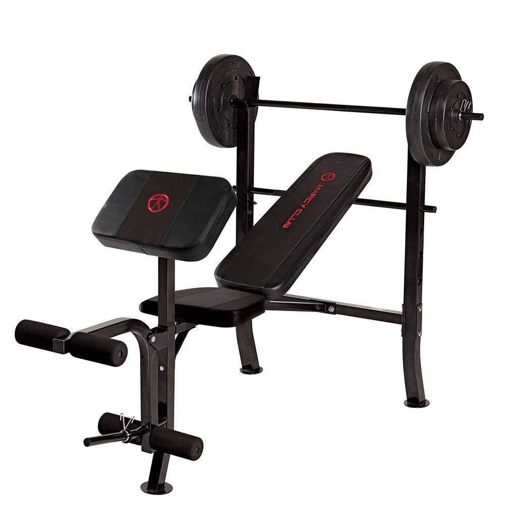 Marcy OPP Standard Bench with 80 lb Weight Set, Black/Black , OS by Marcy