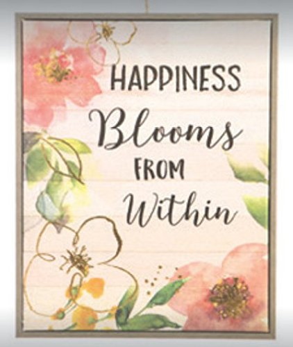 Darice PVC Wall Sign Says: Happiness Blooms