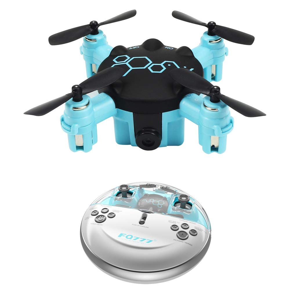 NBKLS Drone Mini aerial camera Remote four-axis aircraft Photo/video/3D tumbling/3rd speed adjustable 30W camera Blue