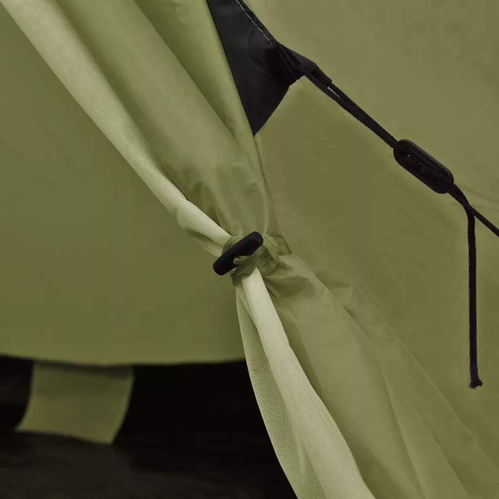 GOTOTOP Tienda de campa/ña 4 Personas Carpa para Camping con Ventanas Carpa Grande Port/átil para Festivales Color Verde 365 x 365 x 250 cm Acampada