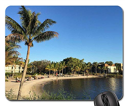 Mouse Pad - Club Med Sandpiper Bay Beach River Palm Tree Coast