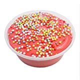 Fruit Punch Butter Slime 8 oz With Foam Beads Scented Handmade Package Stress Relief Floam Party Favor