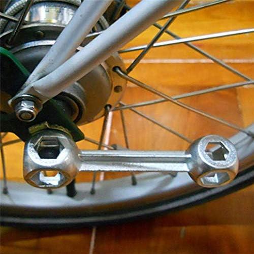 YYG-YYG ツールキット10 1におけるレンチミニ自転車の修理ツールドッグボーン六角穴サイクリングスパナ - シルバー、ホーム便利ツール スパナ