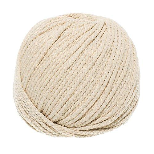 (West Coast Paracord Macramé Cotton Rope - Cream Color - 3mm x 100m (about 109 yd))