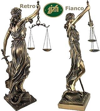 italfama Estatua Themis Diosa de la Justicia, Reproducción, de ...