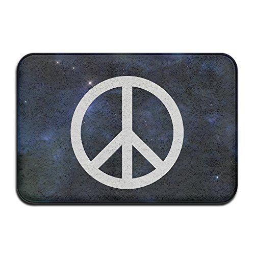Classic Peace Sign Symbol Logo Indoor/Outdoor Doormat 2416 Inch ()