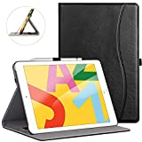 ZtotopCase for New iPad 7th Generation 10.2 Inch 2019,Premium PU Leather Slim Folding Stand Cover with Auto Wake/Sleep,Multiple Viewing Angles for Newest iPad 7th Gen 10.2'' 2019,Black