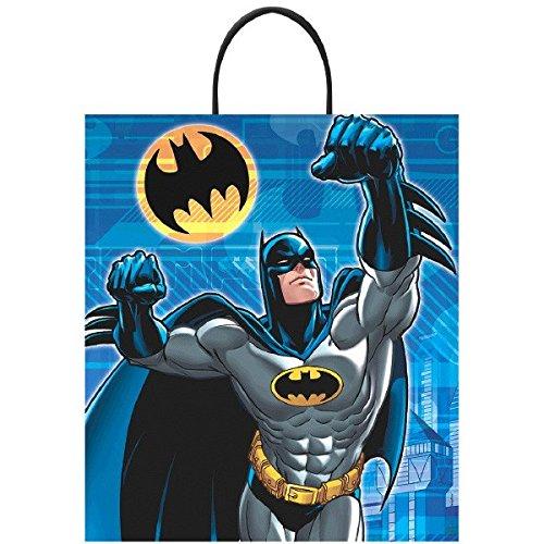 [Batman  Birthday Heroes Call Loot Bag Party Favour, Plastic, 16