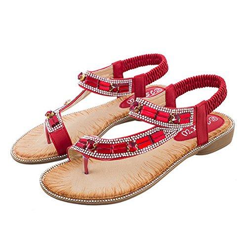 Zapatos Chanclas Pie Chanclas del Mujeres Verano Planas del Chanclas Pie Zapatos 61f848