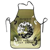 Kitchen Apron For Women Cute Apron Dress Men Cooking Apron Pinafore Dungeons And Dragons Good And Evil Apron