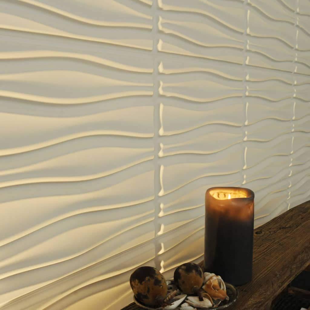 WallArt 24x Paneles Pared 3D Dise/ño Flows Decoraci/ón Recubrimiento de Paredes Accesorios Materiales de Construcci/ón Bricolaje F/ácil Instalaci/ón