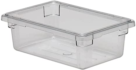 Clear Square Polycarbonate Food Storage Containers ***w//LIDS*** Cambro 4 Qt 6