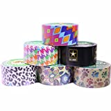 Duck Brand Duct Tape Set, Assorted Colors and Printed Patterns, 6 Rolls