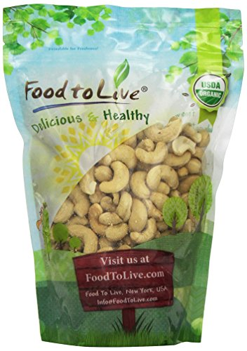 Food to Live CERTIFIED ORGANIC CASHEWS (Whole, Raw)