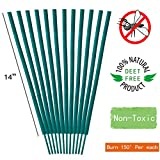 Calm life Mosquito Repellent Sticks - All Natural Premium Citronella Outdoor Garden Incense Sticks with 2.5 Hour Burn Time. – Bamboo infused with Citronella, Lemongrass and Rosemary.