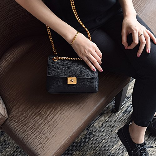 Retro Chain Khaki Backpack Casual Oblique Backpack Black Oblique Color Small Shoulder Bags Bag Handbags Square Mini 4UIwq45