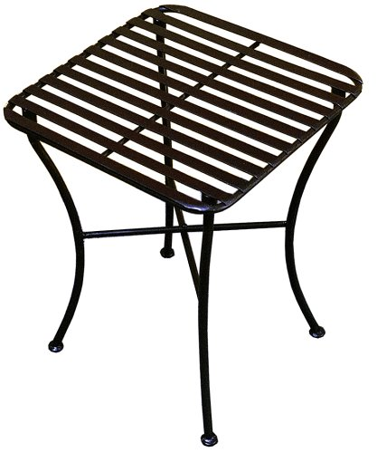 PTC Home & Garden Park Square Side Table, Black price