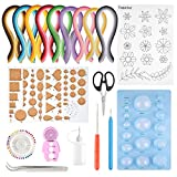 TUPARKA 19 Pcs Paper Quilling Kits 45 Colors 900 Strips Quilling Art Paper DIY Craft (Tamaño: 19pcs)