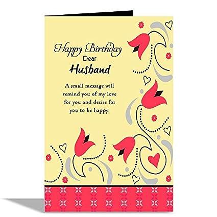 Alwaysgift Happy Birthday Dear Husband Greeting Card 22x15cm
