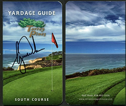 - Tiger Woods Authentic Signed Torrey Pines Yardage Guide Book JSA #Z76870