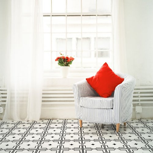 traditional-tin-tile-wall-floor-stencil-complete-kit-stencil-with-paints-brushes-plastic