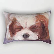 Dogs Throw Pillow Case 12 X 20 Inches / 30 By 50 Cm Gift Or Decor For Teens Girls Chair Bar Gril Friend Adults Sofa - Two Sides
