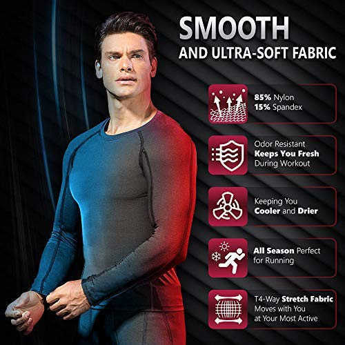 Men's Thermal Compression Long Sleeve for Weather Tops
