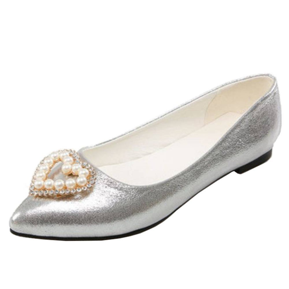 Onewus Flats with Pointed Toe and Slip-on Shoes with Large
