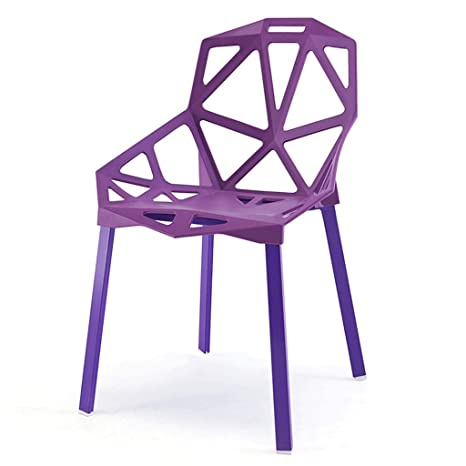 Admirable Amazon Com Geometric Hollow Plastic Chair Stackable Ibusinesslaw Wood Chair Design Ideas Ibusinesslaworg