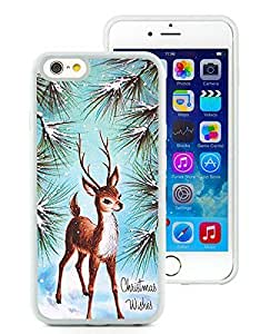 Design for Mass Customization iPhone 6 Case,Christmas Deer White iPhone 6 4.7 Inch TPU Case 7