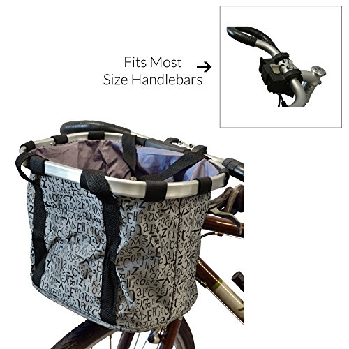 MyGift Multi Purpose Bicycle Basket Carrier / Car Organizer with Drawstring Closure & Top Handles