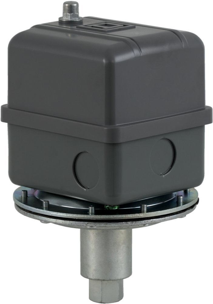 Square D by Schneider Electric 9016GVG1J10 Commercial Electromechanical Vacuum Switch, Nema 1, Dpdt, 5-25 in. of Hg Cut-Out Range, 16.5-25 in. of Hg Settings