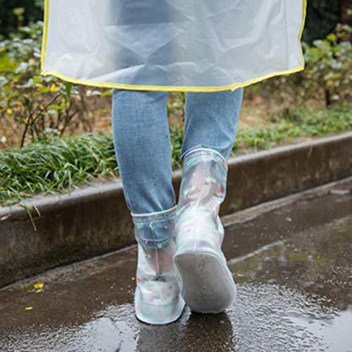 Uomini Estiva la riutilizzabili Gli Antiscivolo Slip Impermeabile Copertura Antipioggia Anti Delicacydex Le Le Scarpe Scarpe Coprono per per Protettiva ZRqxYS
