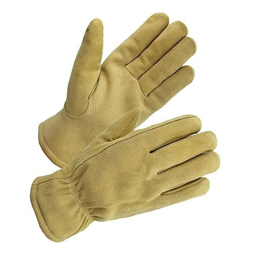 - SKYDEER -20°F Cold-proof Winter Work Gloves with Super Warm and Windproof Deerskin Leather Suede for Winter Casual and Winter Work (Medium, Sand for Women and Men)